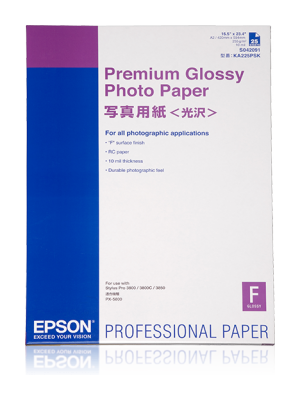 Epson Premium Glossy Photo Paper (Graphic Arts)-A2