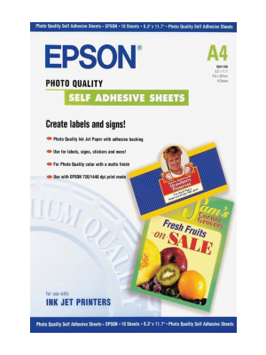 Epson Photo Quality Ink Jet Paper self-adhesive A4, 10 arkuszy